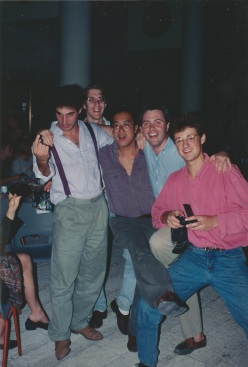Liam Abramson (left), Yo-Yo Ma (centre) and Charles Wiffen (right), Jerusalem, 1993